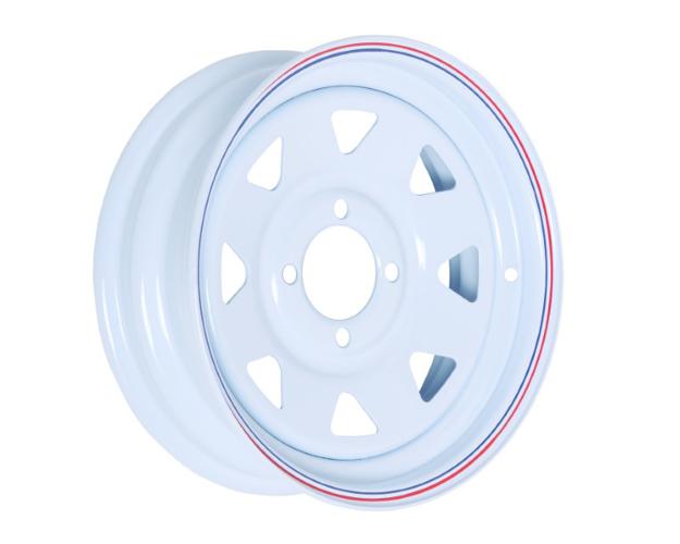 Picture of 13x4.5 PRO WHITE STEEL RIM 4-100,73,0