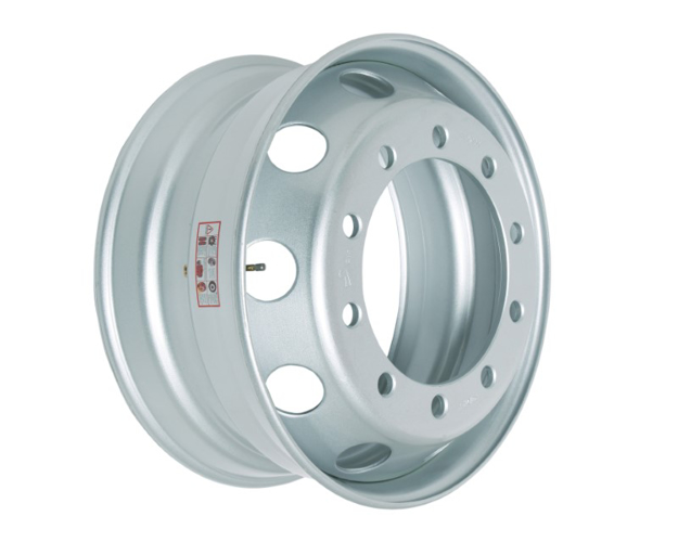 Picture of 9.00X22.5 STEEL RIM 27MM 10 HOLES TAPERED TRAILER