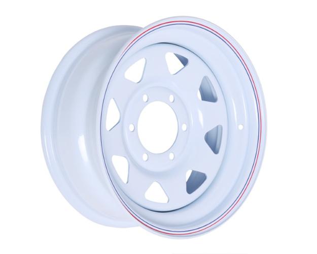 Picture of 16X7 PRO WHITE STEEL RIM6-139.7,108.7,0